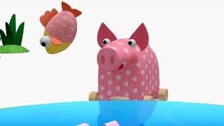 Деревяшки -  Мыльные пузыри  + Рыбалка - развивающие мультфильмы для самых маленьких  0-4
