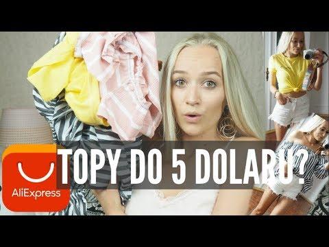 NÁKUPY NA ALIEXPRESSU - TOPY DO 5 dolarů?!