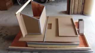 Watch the DIY Pellet Storage Bin being assembled