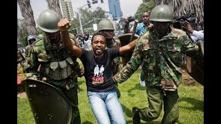 Activist Boniface Mwangi arrested during peaceful march