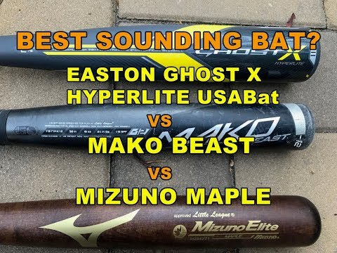 Best Sounding Bat? 2018 Easton Ghost X USABat Baseball Bat vs Mako Beast vs Mizuno Maple Wood