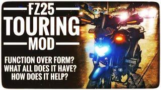 My  Yamaha FZ25 Touring Mod Explained