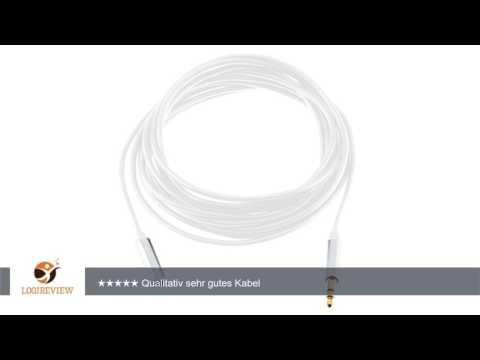 GizzmoHeaven 2M Audio Verlängerung Kabel 3.5mm AUX Stereo Klinkenkabel Stecker auf Buchse für