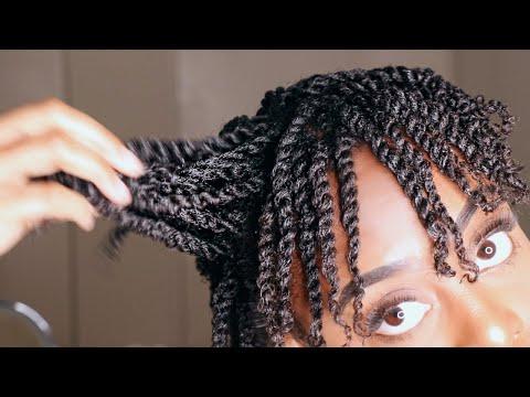 How To: Mini Twist on Short Natural 4b/4c Hair | GLORIA ANN