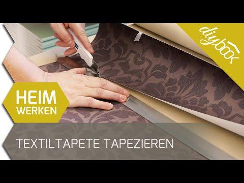 Das Tapetenbild - Textiltapete tapezieren