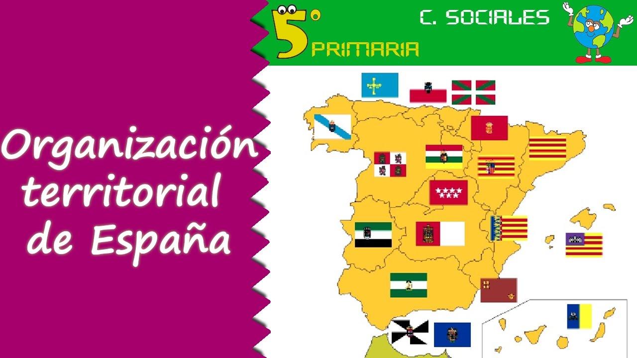 Organización territorial de España. Sociales, 5º Primaria. Tema 4