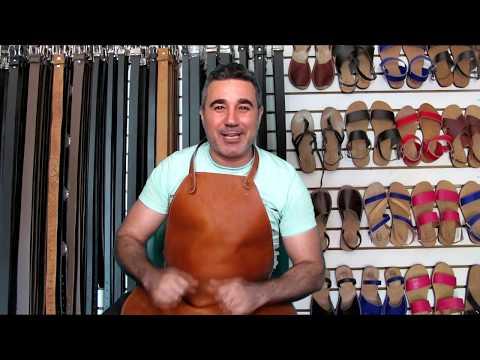 Cómo se hace una sandalia de cuero. Proceso artesanal.
