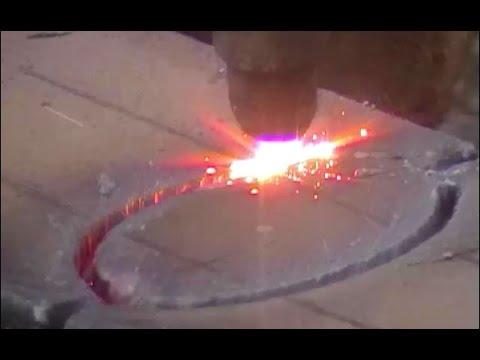 Профессиональный рез газовым резаком / автоген аппарат для резки металла
