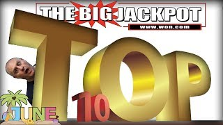 TOP 10 JACKPOTS of JUNE 2018! 💥MEGA WIN$ 💥including THE. BIGGEST. JACKPOT. YET!   The Big Jackpot