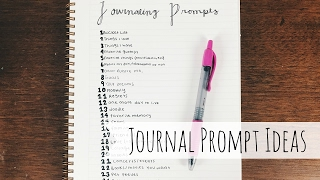 25 Journal Prompts | Journaling Ideas