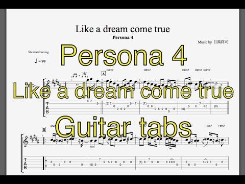 persona 4 like a dream come true guitar tabs