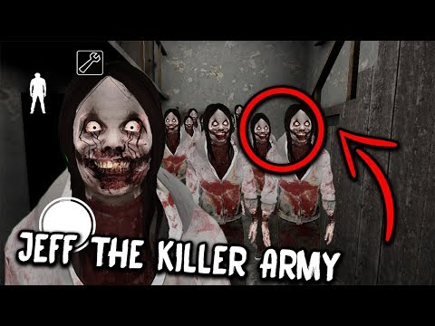 100 Jeff the Killer CLONES in Granny Horror Game... (Granny Mobile Horror Game) (видео)