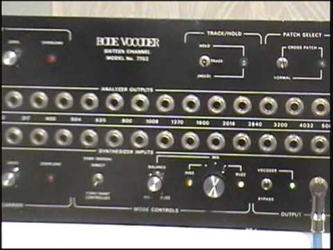 Man selling a Bode 7702 vocoder gives a demonstration