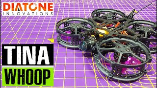 Diatone Hey Tina Whoop FPV Cinewhoop Racing Drone // Full review and flight footage // Runcam Nano 2