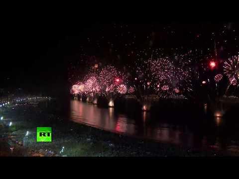 Rio de Janeiro: New Year fireworks display at Copacabana beach
