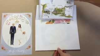 Aoife And Tommys Custom Illustrated Wedding Invitation Suite