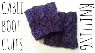 Cable Boot Cuffs | Easy Knit Pattern | Knitting Accessories Tutorial