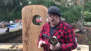 Power Carving Fairy House Door Video 5 Using King Arthur Lancelot DiscBillyDillardArt