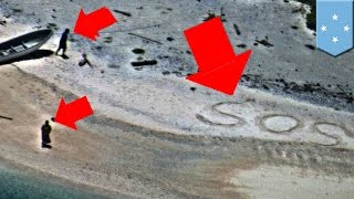 Strandedonadesertisland:CouplerescuedwritingSOSonbeach-TomoNews
