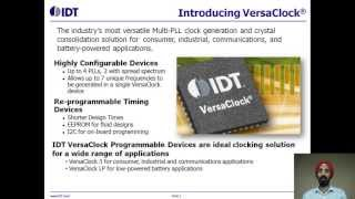 VersaClock® 3 and LP Programmable Clock Generator Overview by IDT