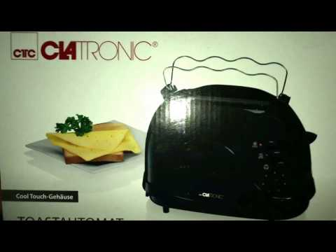 Clatronic TA 3565 2 Scheiben-Toaster, schwarz unboxing und Anleitung