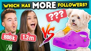Does It Have More Followers Than You? | YouTubers Guess That Following