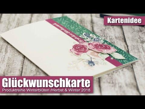 Glückwunschkarte | Produktreihe Winterblüten | Herbst & Winter 2018 | Stampin' Up!