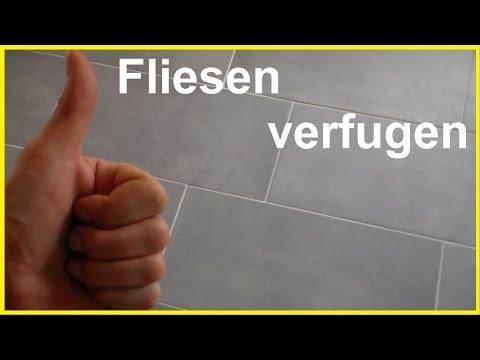 Fliesen fugen - Fliesen verfugen - How To Grout Tiles - Bodenfliesen verfugen