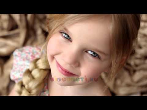 Студийная видео фото съемка детей  девочек 4-5 лет.