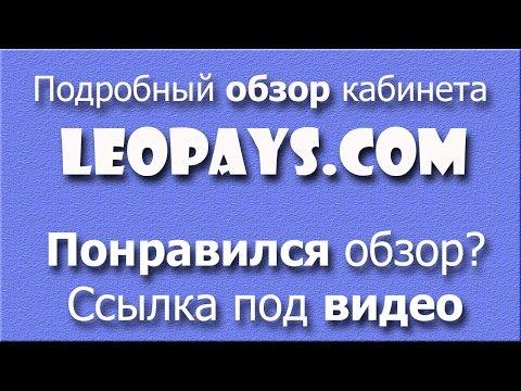 Обзор кабинета LeoPays   ВЕСЬ ДОСТУПНЫЙ ФУНКЦИОНАЛ