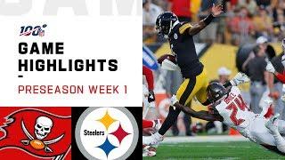 Buccaneers vs. Steelers Preseason Week 1 Highlights   NFL 2019