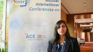 Ms. Shivani R. Kumar at ACE Conference 2018 by GSTF Singapore