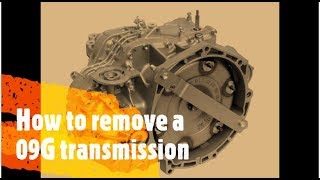 How to remove VW 09G transmission