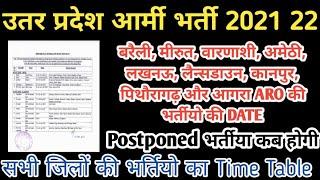 Utarpardesh Army bharti 2021 22 //Bareilly meerut lucknow Lansdowne pithoragarh varanasi army bharti