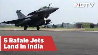 Watch: Rafale Fighter Jet Lands At Ambala Air Base