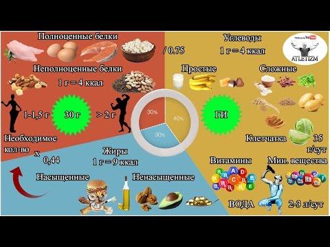 Доходчиво о правильном питании для сжигания жира и набора мышечной массы! Часть 1 СТРУКТУРА РАЦИОНА!