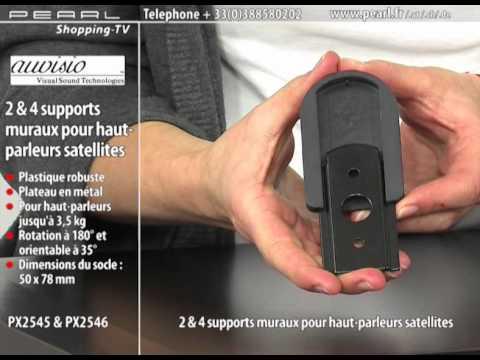 2 SUPPORTS MURAUX POUR HAUT-PARLEURS SATELLITES