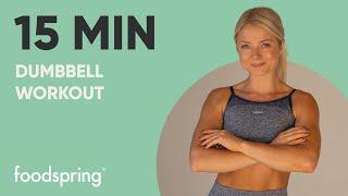 15min HIIT Workout | Mit Kurzhanteln | foodspring®
