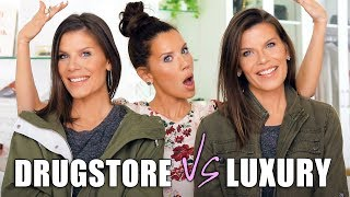 LUXURY vs. DRUGSTORE DUPES on my TWIN SISTERS