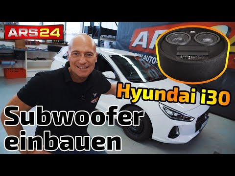 Hyundai i30 Subwoofer nachrüsten - Gladen RS 08 RB Dual Aktiv