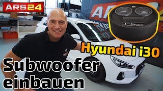 Hyundai i30 Subwoofer installation | Gladen RS 08 RB Dual Active | ARS24