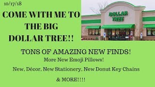 Come with me to Dollar Tree 10/17/18~Amazing New Finds Donut, Keychains, Candles, Stationery, Decor!