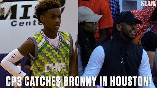 Bronny James Shows Off for CP3 in Houston!!! | SLAM Highlights