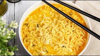 Рецепт корейского РАМЁНА | Как приготовить Рамен дома (Корейская Лапша рамён)
