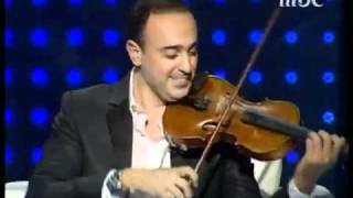 صابر الرباعي يعزف على الكمان - اخر من يعلم