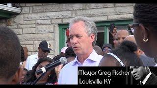 Muhammad Ali Memorial Mayor Greg Fischer