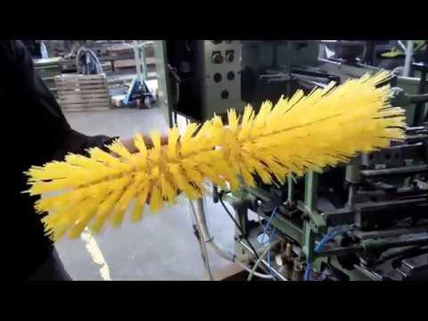 Schlesinger Broom Making Machine / Straßenbesen Maschine