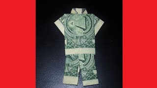 How to Fold a Money Origami SUIT SHIRT & PANTS- Father's Day Gift Idea Craft- Easy Dollar Origami