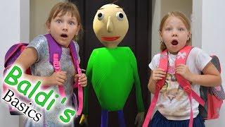 Baldi's in real life! Baldi is my teacher?! What did mom do? Baldi's Basics funny video