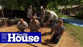 How to Build a Round Patio with a Fire Pit - This Old House - Video Youtube